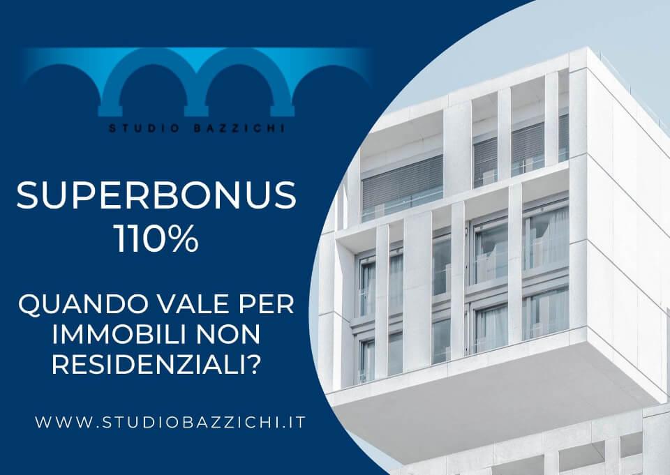 superbonus 110 per immobili non residenziali